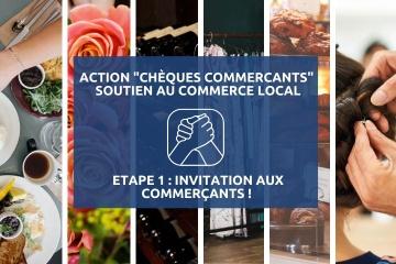 """Action """"chèques commerçants"""" : invitation aux commerçants !"""