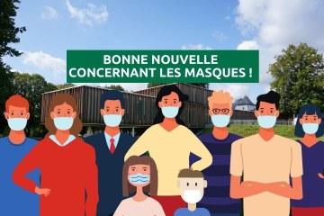 Bonne nouvelle concernant les masques !