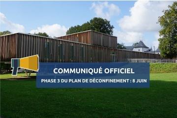 Communiqué officiel : lancement de la phase 3 du plan de déconfinement à partir du 8 juin