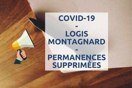 Covid-19 : permanences du Logis montagnard annulées !