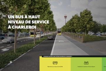 Mobilité : le BHNS du Sud de Charleroi