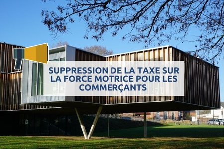 Suppression de la taxe sur la force motrice pour les commerçants !