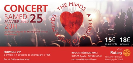 """Concert """"The Minds"""" cover Simple Minds !"""