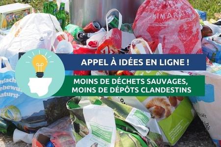 """Appel à idées en ligne : """"Moins de déchets sauvages, moins de dépôts clandestins"""""""