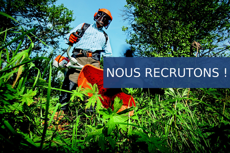 Recrutement : ouvrier espaces verts / environnement !